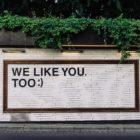 "Wall Art ""We like you too"""
