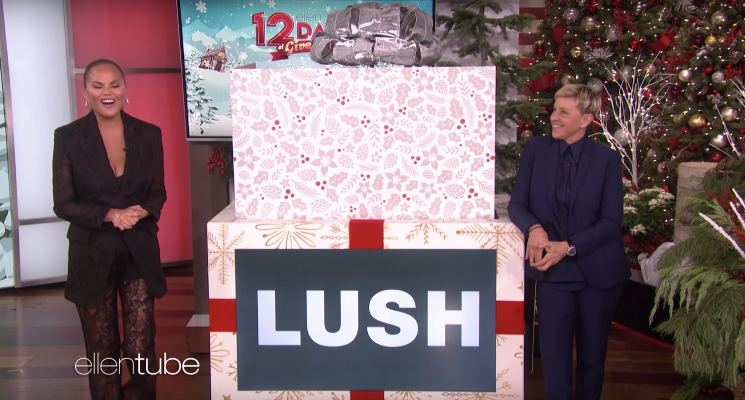 Lush logo on the Ellen DeGeneres Show