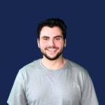 Jordan Coff portrait on blue background