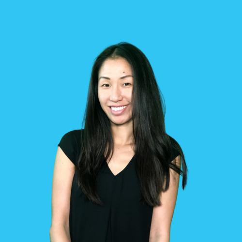 Linda Chau portrait on blue background