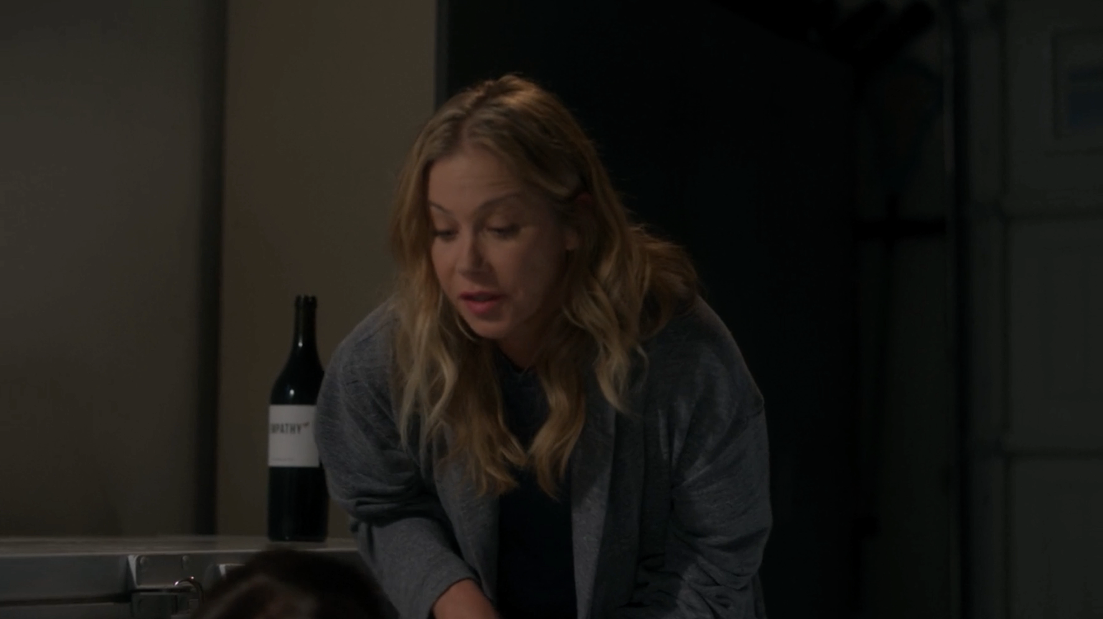 Christina Applegate in Dead to Me with Empathy Wine in Background